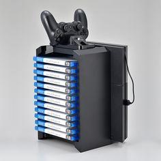 PS4本体・コントローラー・ソフトを整理整頓できる収納スタンド!