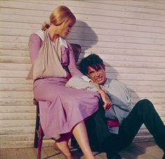 Bonnie and Clyde Faye Dunaway and Warren Beatty 1967 Warner Bros.