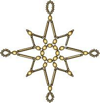 Free Bead Weaving Animation for Snowflake Pattern by Katherina Kostinsky featured in Bead-Patterns.com Newsletetr!
