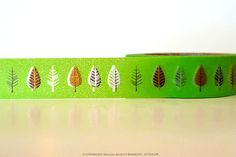 Chugoku Washi Tape  Green Leaf Pretty Tape Shop by PrettyTape, $2.50
