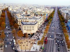 Champs Elysees is depicted as streets in France, Paris city. They are divided into two directions that has their own traffic, streets and houses. The whole city can be seen from the top. France Wallpaper, World Wallpaper, City Wallpaper, Wallpaper Space, Beach Wallpaper, Best Vacation Destinations, Best Vacations, Vacation Ideas, Beautiful Places To Visit