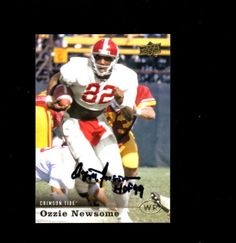 Ozzie Newsome Cleveland Browns HOF signed auto football card Alabama Roll Tide
