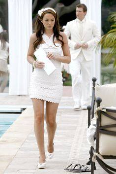 Gossip Girl's version of the White Party, Blair Waldorf White Hot in all White……