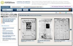 New historic newspapers - great for family history!