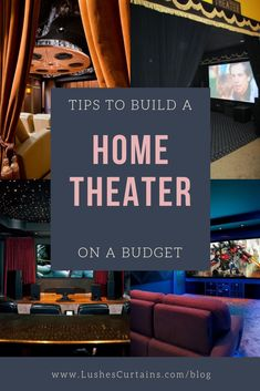 Tips to Build a Home Theater on a Budget - home theaters if you wish, they can also be set up on a decent budget without costs spiraling wildly. Home Theater Furniture, Best Home Theater, At Home Movie Theater, Home Theater Rooms, Home Theater Seating, Home Theater Design, Home Building Tips, Building A House, Pre Built Homes