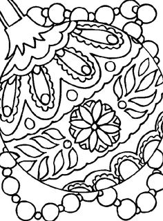 christmas ornament thats garnished with beautiful coloring page christmas coloring pages kidsdrawing free