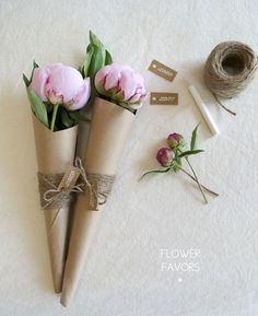 love paper wrapped flowers