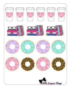 Coffee and Donuts by LittleSurpriseShoppe on Etsy