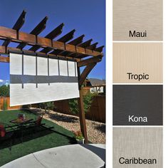 keystone fabrics energy saving pole operated lift outdoor solar shade by keystone fabrics - Patio Sun Shades