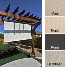 Keystone Fabrics Energy Saving Pole Operated Lift Outdoor Solar Shade