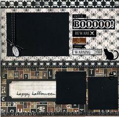 12x12 Premade Halloween Scrapbook Page  by SusansScrapbookShack, $15.95