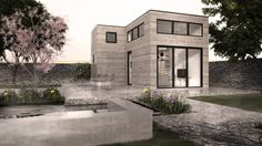 House With Porch, My House, Concept Home, Small House Design, Pool Houses, My Dream Home, Architecture Design, House Plans, Cottage