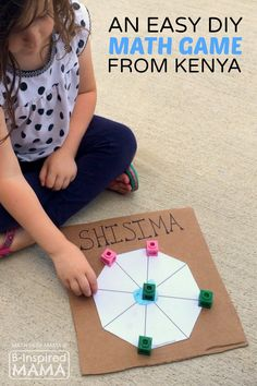 Shisima - An Easy & Cool Math Game for Kids from Kenya - at B-Inspired Mama - PLAY Activities for Kids - Game's Math Classroom, Kindergarten Math, Teaching Math, Math Math, Math Multiplication, Math Teacher, Teaching Tools, Multicultural Activities, Math Activities