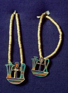 Jewels of Princess Khnumit, 1929-1897 BC, Dahshur Necropolis, Memphis, Egypt. Egyptian civilization, Old Kingdom, Dynasty IV