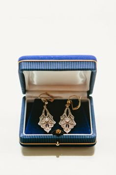 Art Deco antique drop earrings