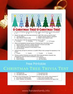 How much do you know about the evergreen trees so many people decorate every December? Now you can take our Christmas Tree Trivia Test to find out! Xmas Party Games, Christmas Trivia, Christmas Tree Decorations, Holiday Decor, Trivia Quiz, Tree Lighting, Free Games, Free Printables, How To Find Out