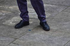 Charity shops in london -> leather robert clergerie derbies and a tweed wool trouser