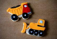 Hand Decorated Sugar Cookies Dump Trucks and by BeesKneesCreative