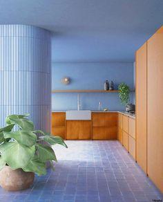 Design Set, Home Design, Cottage Kitchen Cabinets, Farmhouse Style Kitchen, Modern Farmhouse Kitchens, Farmhouse Design, Interior Modern, Home Interior, Kitchen Interior