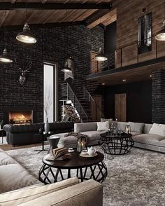 A warm evening, a quiet pleasant melody, twilight and an incredible feeling of comfort House interior Welcome to the lair of a seducer Dream Home Design, My Dream Home, Home Interior Design, Interior And Exterior, Best Home Design, Room Interior, Interior Ideas, Style At Home, Industrial House