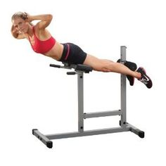 PowerLine Roman Chair / Back Hyperextension. You must keep them strong and tight to avoid painful injuries. This Roman Chair/Back Hyper lets you train abs, back, glutes and hams in complete comfort and safety. Roman Chair Exercises, Back Exercises, Stretches, Illinois, Best Abs, Chair Backs, Ab Chair, Swivel Chair, At Home Gym