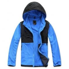 Blue and Black Polar Fleece Jacket
