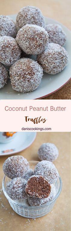 Coconut Peanut Butter Truffles