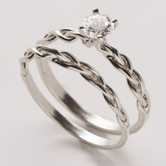 Braided Wedding Ring Set; LOVE this.