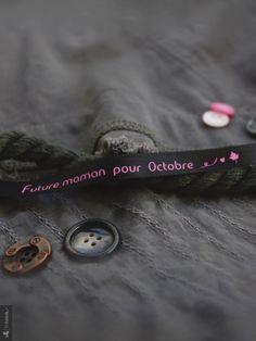 Bracelet de satin - Future maman pour octobre