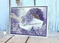 I love stamp sets with background elements and the TIMELESS TEXTURES is no slacker in that department! I just love the elegance and beauty of this card! Paper Crafts, Diy Crafts, Quilling Patterns, Love Stamps, Beautiful Handmade Cards, Stamping Up, Cute Cards, Stampin Up Cards, Card Making