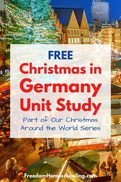 In this free unit, your child will learn about how Christmas is celebrated in Germany. This low-prep unit can be used with all ages. Part of our Christmas Around the World series. Christmas In Germany, Christmas In Australia, Preschool Christmas Activities, Activities For Kids, South America Continent, Five In A Row, Kids Labels, Community Helpers, Unit Studies