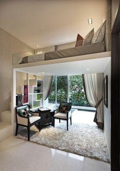 Elegante mini appartamento - Idee per mini appartamenti dal design moderno con un tocco elegante.