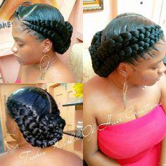 Best 25 Goddess braids ideas on goddess braids # goddess Braids with weave # goddess Braids with weave Box Braids Hairstyles, Girl Hairstyles, 2 Cornrow Braids, Senegalese Twists, Dutch Braids, Natural Hair Updo, Natural Hair Styles, Twisted Hair, Braids With Weave