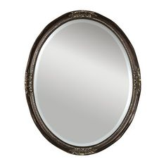 For Hall Bath - Backup Uttermost Newport Oval Beveled Mirror in Bronze