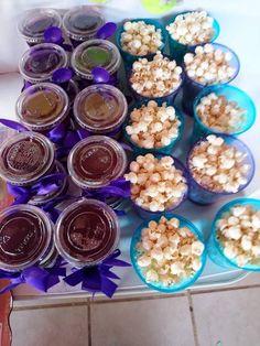 #gelatina #jell-o #purple #palomitas #popcorn #purple #blue #partyideas