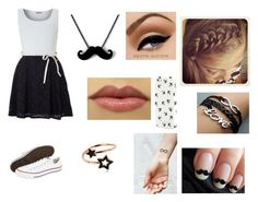"""1000 followers!!"" by larasoares100 ❤ liked on Polyvore featuring WalG, Converse, Aéropostale, claire's and PERLOTA"