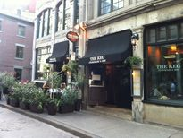 The Keg Steakhouse & Bar, Vieux Montreal. I believe Chris and I went here before it became the Keg we loved that one!...so, I looked into it and there are those who say it is the best place to get steak in Montreal. (There are 2 Kegs, one is in Old Montreal). 25, rue St-Paul E.  514-871-9093.