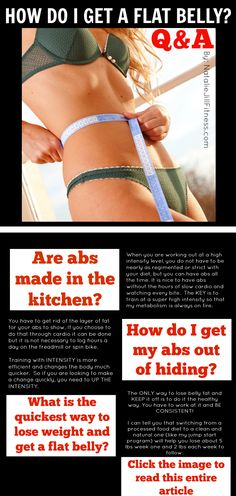 To read the entire article, click the image ! - How to get abs. Get your abs questions answered. Flat belly, abs, guide will help answer all your questions! Find out how to get that flat. Body Makeover, Fitness Inspiration Body, How To Get Abs, Night Sweats, Health Tips, Health Foods, Health Motivation, Flat Belly, Physical Fitness