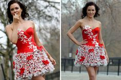 15 Inventive Dresses Made from Recycled Materials via Brit + Co