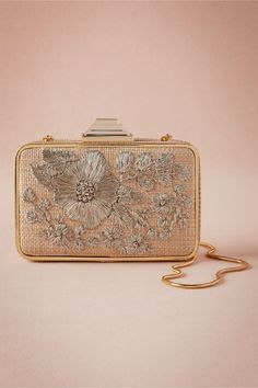 Argent Embroidered Box Clutch from @BHLDN | find your perfect bridal accessories