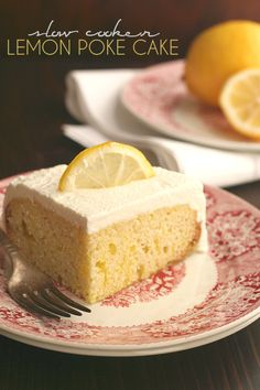 A tender low carb lemon poke cake baked in your slow cooker. This is the perfect sugar-free, grain-free dessert to welcome Spring! So here we are, another instalment of the low carb slow cooker cak...