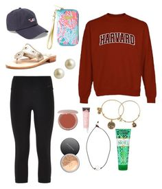 """""""What I'm wearing"""" by kentuckygirl99 ❤ liked on Polyvore featuring NIKE, Jack Rogers, Carolee, Bare Escentuals, Alex and Ani, Stila, Lead, Vineyard Vines and Lilly Pulitzer"""