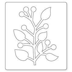 Sizzix Bigz Die - Branch w/Leaves Leaf Crafts, Flower Crafts, Diy And Crafts, Paper Crafts, Leaf Template, Flower Template, Templates, Giant Paper Flowers, Felt Flowers