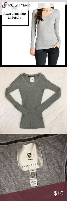 Abercrombie & Fitch long sleeve thermal Perfect used condition, size is medium - long and lean v neck thermal from Abercrombie Abercrombie & Fitch Tops Tees - Long Sleeve
