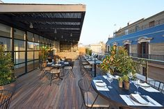 A view of the rooftop terrace.