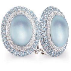 Blue Topaz and Diamond Earrings in 14kt White Gold