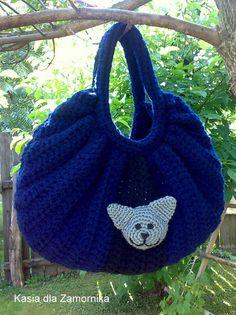 bag with cat (my crochet)