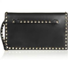 Valentino - The Rockstud leather clutch - Precisely made and studded by hand…