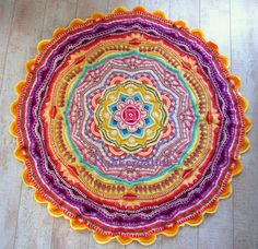 Mandala Madness Cal Thanks to Helen and Ester I'm able to make to most beautiful crochet I ever made!