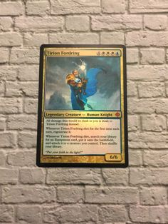 A personal favorite from my Etsy shop https://www.etsy.com/listing/486697545/custom-foil-tirion-fordring-magic-card